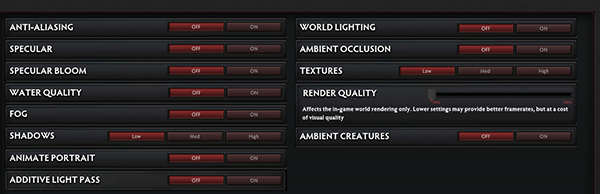 Reduce graphics settings to boost your frame rates for smooth gameplay.