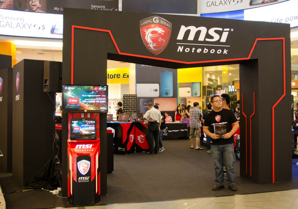 You'll be greeted by the MSI Gaming Fair roadshow when you step into the Concourse area of Plaza Low Yat.