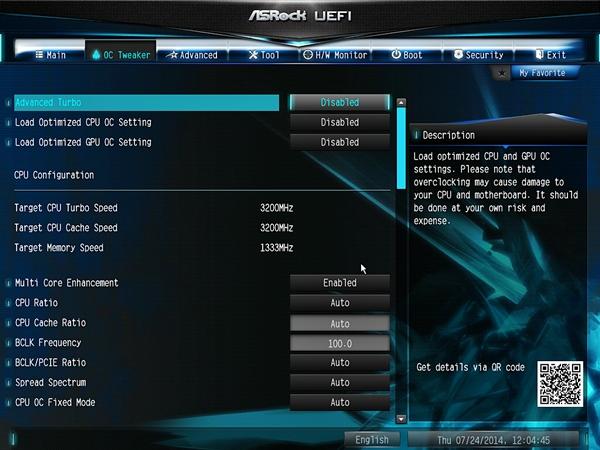 Test Setup & BIOS Settings : ASRock Z97 Anniversary