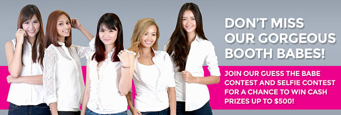 Booth babes will be out in full force at Comex 2014. (Image source: Comex 2014 website.)
