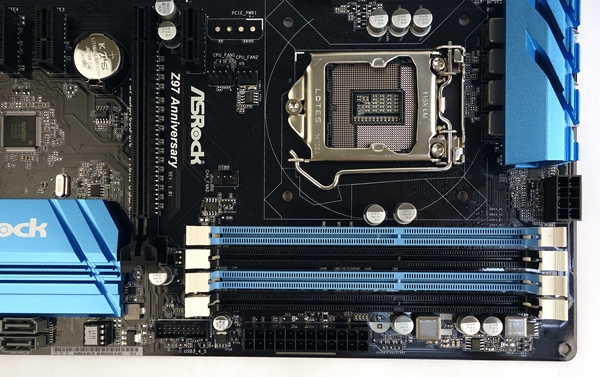 The DIMM slots that support overclocked memory modules have been rated to operate up to 3100MHz.