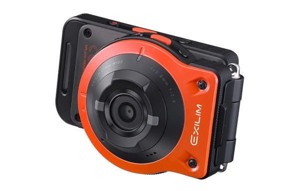 The new Casio Exilim EX-FR10 in its 'conventional style' where it operates like any digital compact.