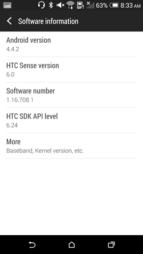 Similar to other recent high end Android smartphones, the HTC Butterfly 2 comes with Android 4.4.2 KitKat.