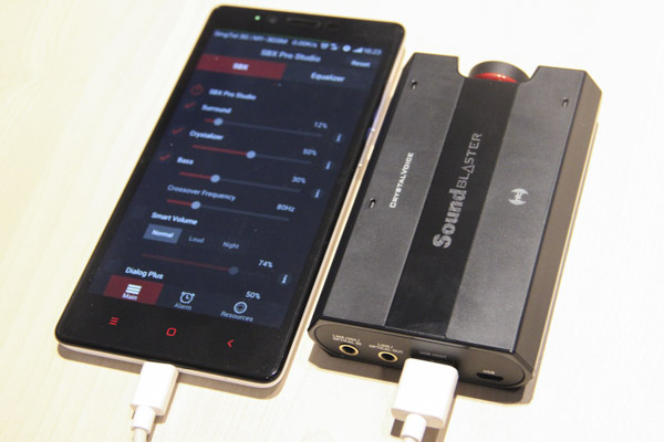 The Sound Blaster E5 will charge your portable devices when connected.