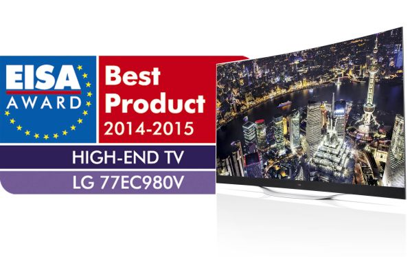 The LG 77-inch 4K OLED TV was the winner for the EISA High-End TV 2014-2015.