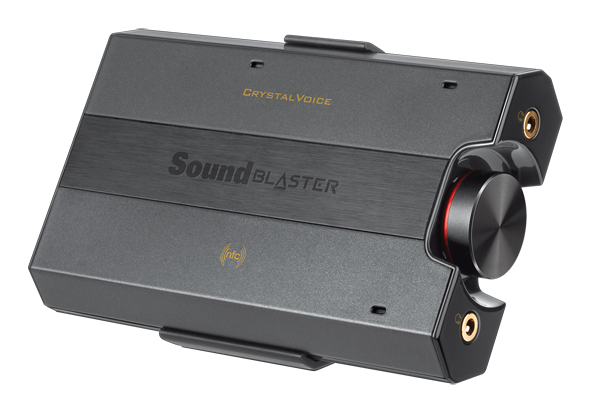 The Sound Blaster E5 is an example of a portable high-resolution USB DAC and headphone amplifier.