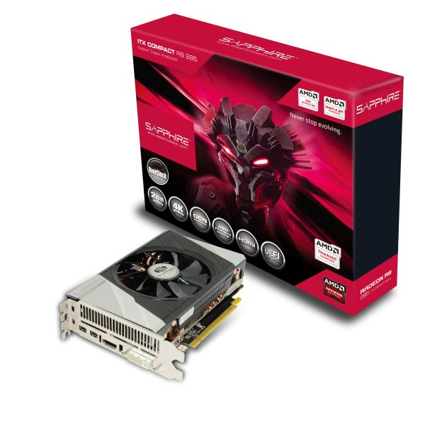 The Sapphire R9 285 ITX Compact OC Edition was designed to be used in small form factor PCs.