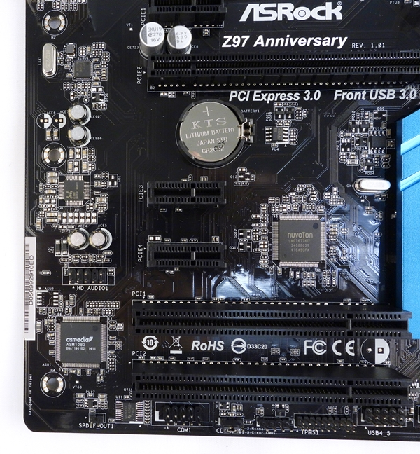 The board features a HD audio 7.1-channel capable Realtek ALC887 codec.