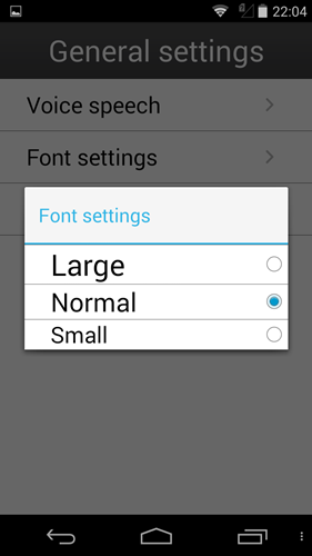 You also can adjust the font size to suit your needs.
