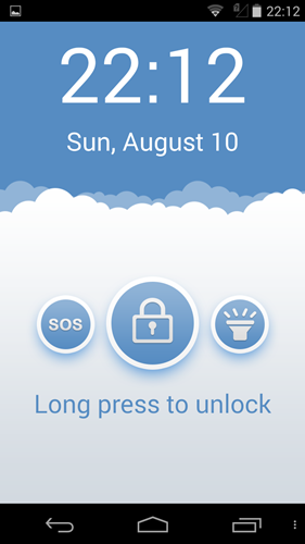 The SOS shortcut is on the left. Simply press and hold to activate the Emergency feature