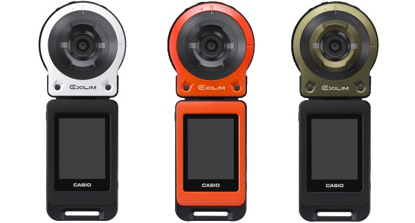 The Exilim EX-FR10 will be available in three colors: white, orange and green.
