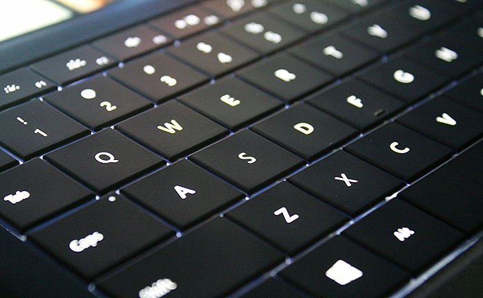 The keys could use more travel, but then again the Type Cover is just 5mm thick and even comes with backlighting.