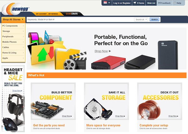Newegg singapore online retail store now open for shopping for New online shoping site