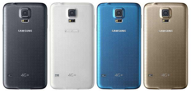 Although it's not the Samsung Galaxy S5 LTE-A phone that debuted in Korea, the Galaxy S5 4G+ is still superior to the existing Galaxy S5. It will come in four color options: shimmery white, charcoal black, copper gold and electric blue - similar to the existing Galaxy S5.