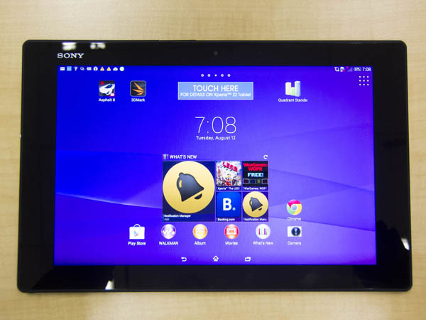 The Z2 Tablet once again uses Sony's minimalist OmniBalance design.