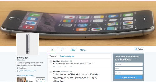 #Bendgate (Source: Twitter)