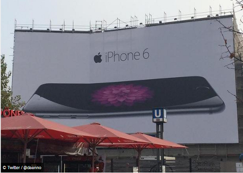 One Twitter user in Berlin just had to snap this bent billboard display. (Source: Digital Spy)