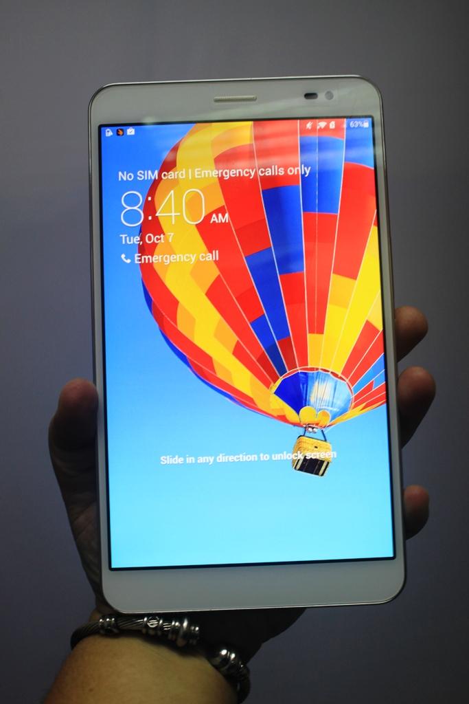 In the flesh: the Huawei MediaPad X1.
