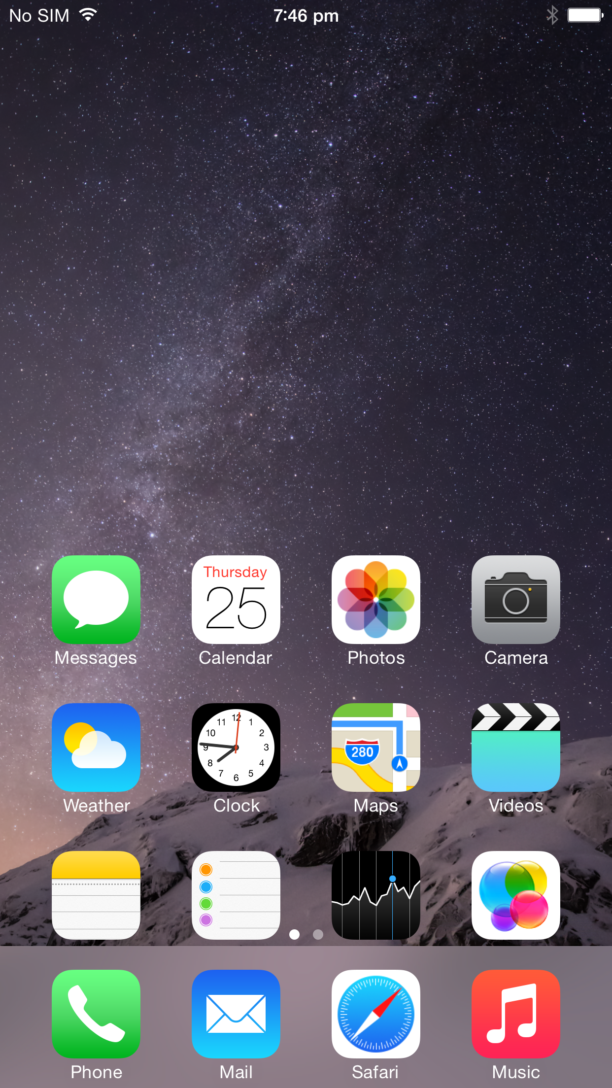 Reachability brings the top of the screen within easy reach, but its not the most intuitive feature to use.