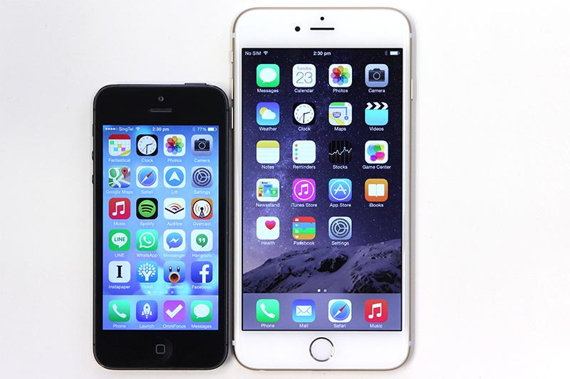 size of iphone 5 get up with the apple iphone 6 and iphone 6 plus 16144