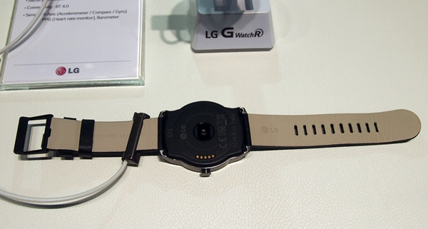 This is the default calf-leather strap of the LG G Watch R.