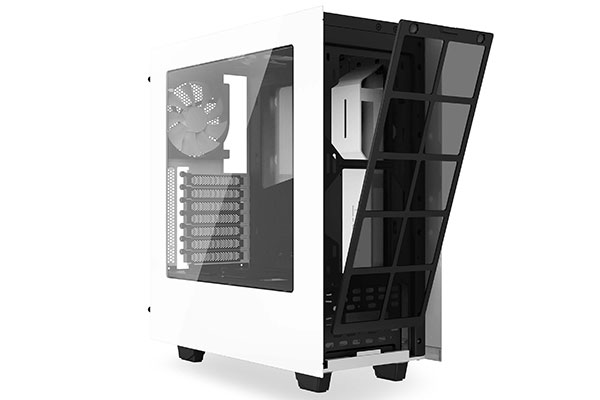 The NZXT S340 is also available in white. (Image source: NZXT.)