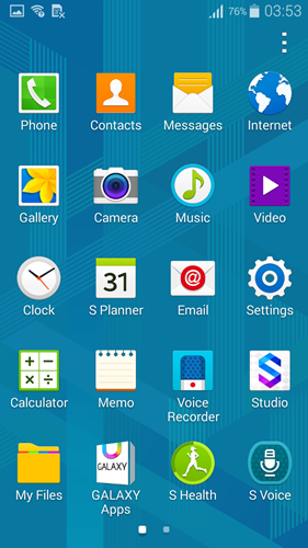The interface on the Samsung Galaxy Alpha is similar to the recent Galaxy smartphones.