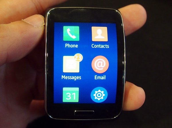 This is the main menu of the Samsung Gear S.