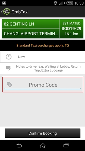 You have to enter the promo code in the GrabTaxi app to enjoy the discounts.