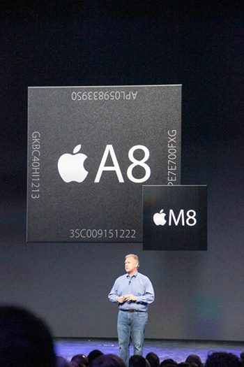 The A8 is 13 percent smaller than the A7, but 25 percent faster.