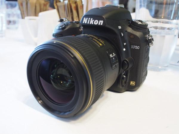 The new full-frame Nikon D750.