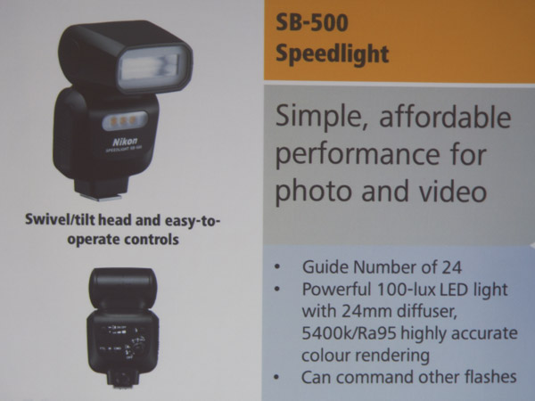 The upcoming SB-500 should be well received by those who do a lot of video work.