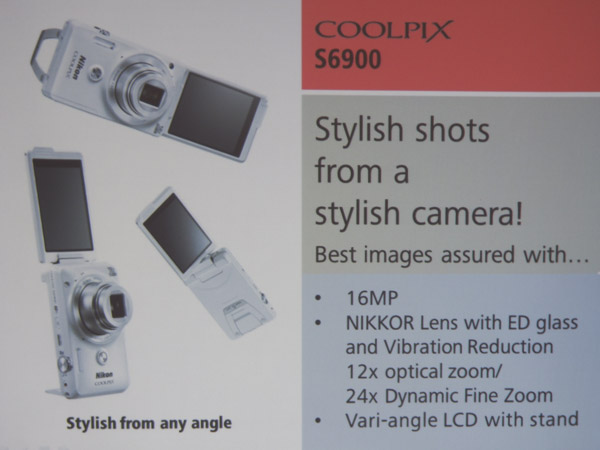 Meant to be more of a stylish lifestyle option, the Coolpix S6900 should appeal to the younger crowd.