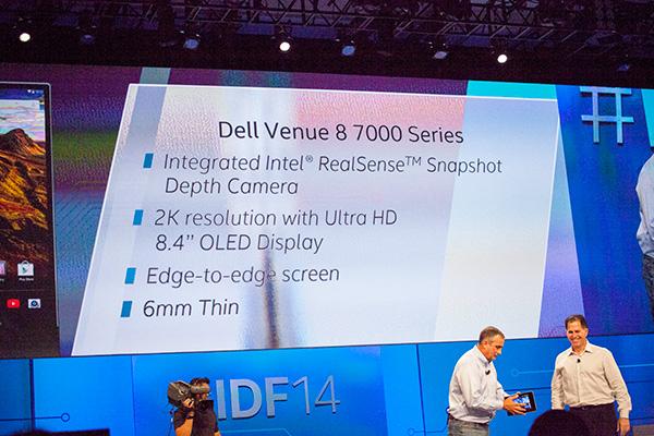 Dell Venue 8 7000's technical specifications.
