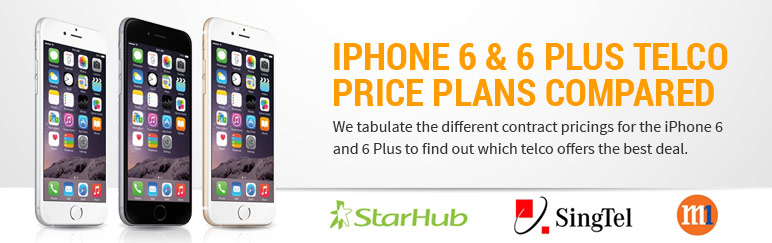 Compared: iPhone 6 & 6 Plus telco contract pricings