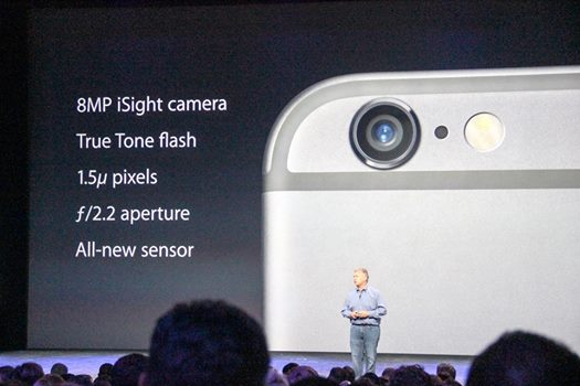 Looks like the same lens as the iPhone 5s but with a new sensor.