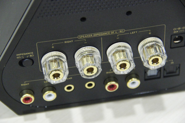 A full set of line out ports for up to 5.1-channel analog audio connectivity.