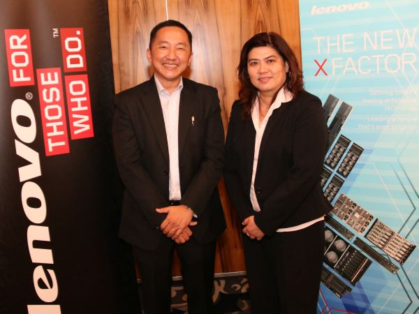 From L-R: Khoo Hung Chuan, Country General Manager, and June Liew, Country Manager, Enterprise Business Group, Lenovo Malaysia.