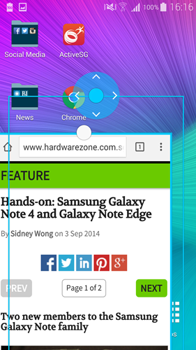 Besides adjusting the size, you also can move the pop up window anywhere on the screen.
