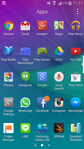 In line with Android 4.4 KitKat, Samsung also revamped its App List on the Galaxy Note 4 to look cleaner and flatter.