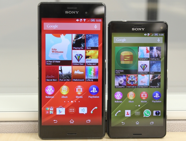 Sony Xperia Z3 and Z3 Compact: Z2 update in two phone ...