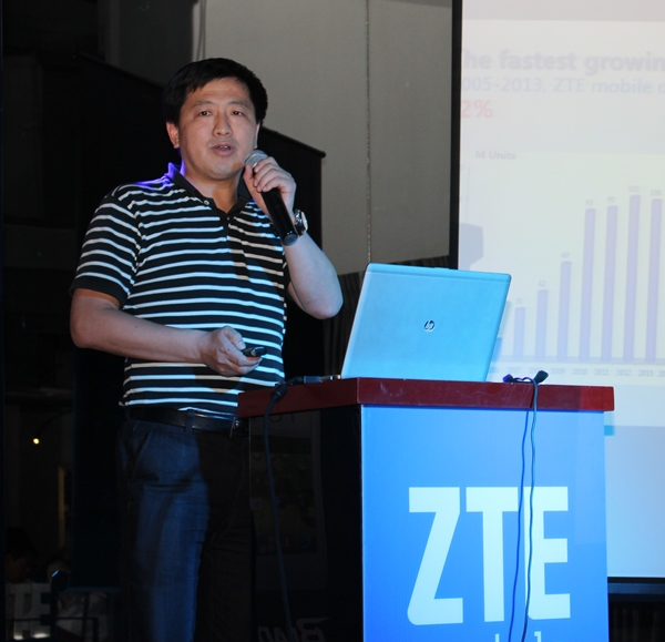 Jacky Zhang, CEO of ZTE Device, Asia Pacific and Commonwealth Independent States (CIS) speaking at the launch.