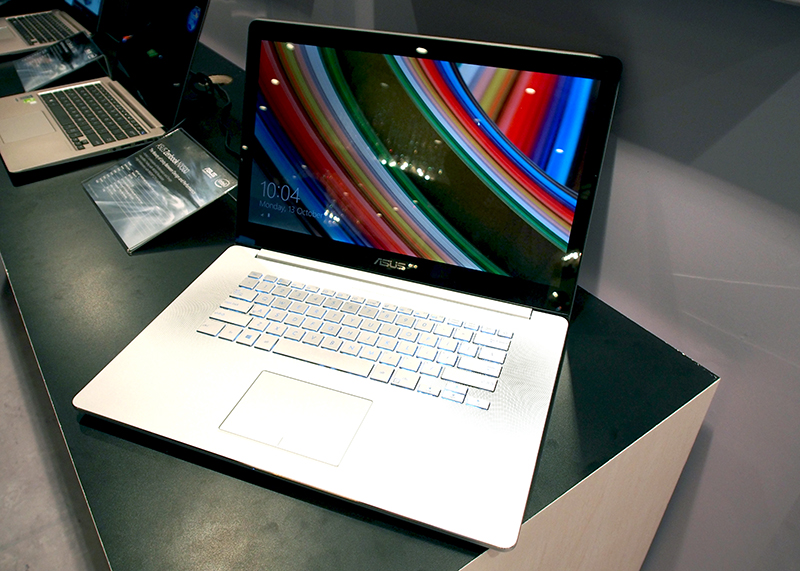The ASUS ZenBook NX500 has a 15.6-inch IPS 4K touchscreen display.