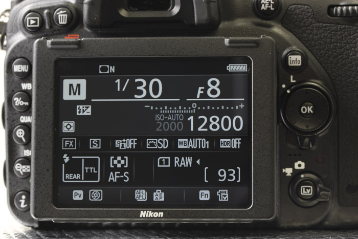 """In contrast, the """"info"""" button quickly displays all your settings so you know what your camera's set at with just a glance."""