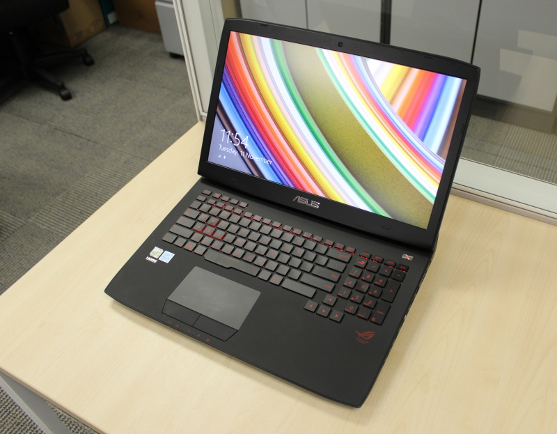 The keyboard and trackpad is identical to the one on the G750 series, now with red highlights.