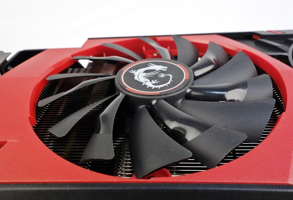 The new Torx 100mm cooling fan of the MSI GTX 980 4G.