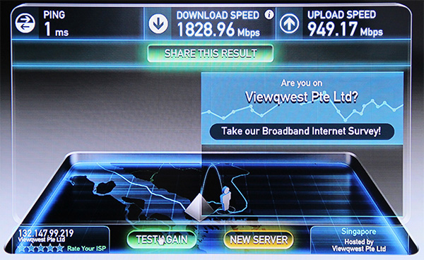 ViewQwest is the only ISP outside of Japan to offer 2Gbps fiber broadband.