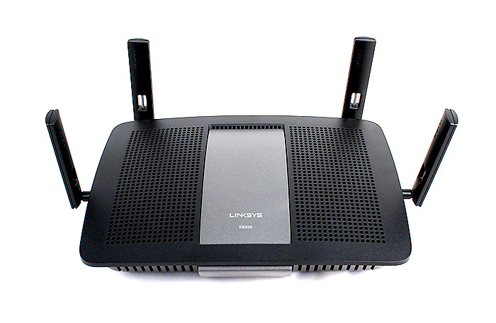 In comparison, the Linksys E8350 is more conservatively styled and is also more compact, which also translates to easier placement.