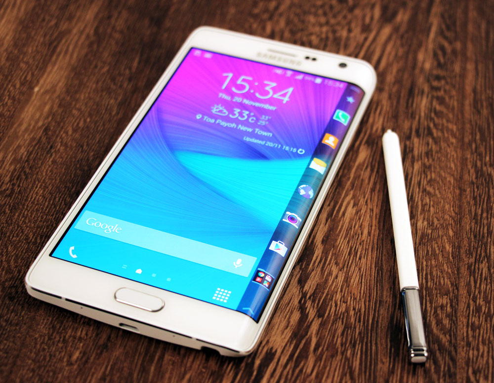 samsung galaxy note edge 4g finally a curved screen that 39 s actually useful. Black Bedroom Furniture Sets. Home Design Ideas