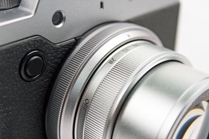 There's a control ring on the X30's lens barrel to help adjust aperture or shutter speed, depending on the mode you're shooting in.